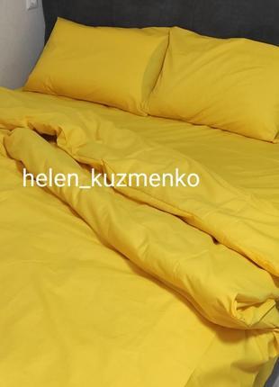 Жовтий комплект постільної білизни євро