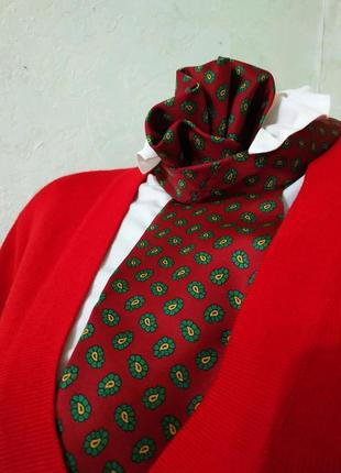 Carlo contini/модный аксессуар 2020 шелковый галстук в сочный принт