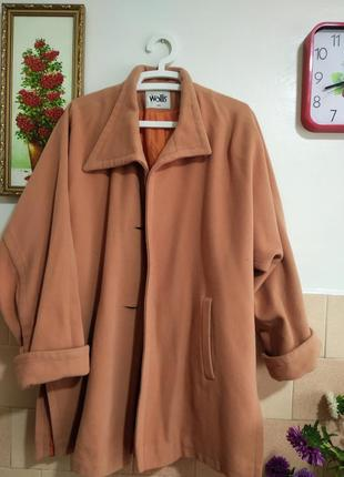 Шерстяное пальто овер сайз