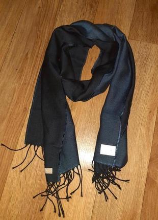 Теплый шерстяной шарф шерсть шелк digel