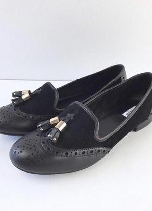 Замшевые туфли с вставками кожи от dune