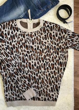 Леопардовый свитшот джемпер кофта h&m