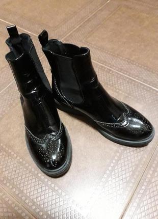 Ботиночки челси из натуральной кожи