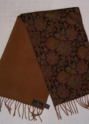 Ermenegildo zegna шарф  164*29,5 шерсть шелк кашемир