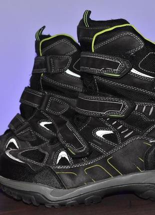 Ботинки cortina трекинговые для мальчика демисезонные черные размер 39