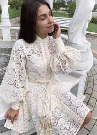 Кружевное платье , платье на пуговках3 фото