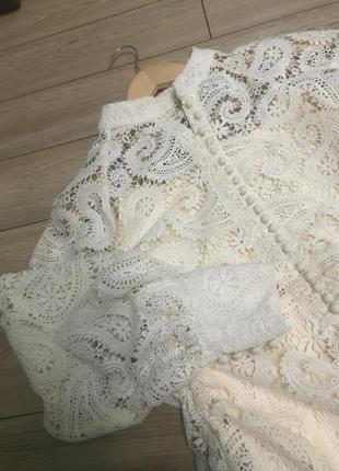 Кружевное платье , платье на пуговках5 фото