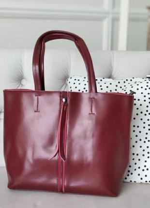 Женская кожаная большая сумка из натуральной кожи жіноча шкіряна велика