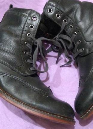 Женские ботинки из натурлаьной кожи,marc o polo