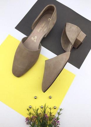 Кожаные туфли на толстом каблуке marks & spencer