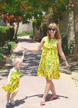 Платья мама+дочка фемилилук