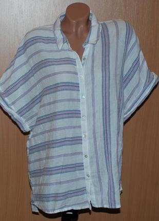 Блуза в ассиметричную полоску бренда tu / 100%хлопок / приспущены плечи/
