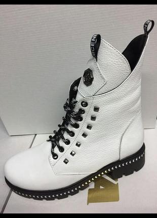 Распродажа, зимние сапоги,ботинки из натуральной кожи высшего качества, кожаные