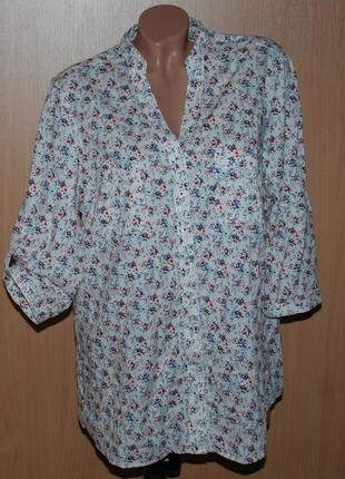 Блуза цветочный принт /100% хлопок/ бренда tcm tchibo