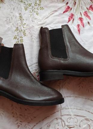 Кожаные ботинки- челси