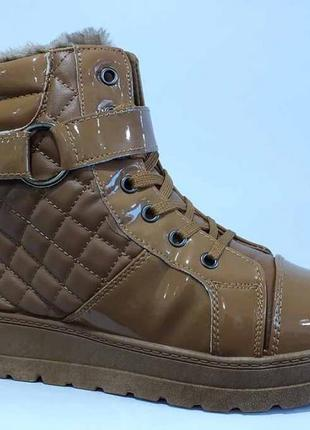 Зимние модные ботинки на платформе