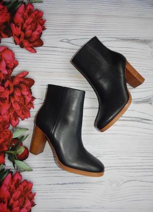 🌿шикарные кожаные сапоги, ботинки деми  от дорогого бренда autograph. размер 38. 🌿