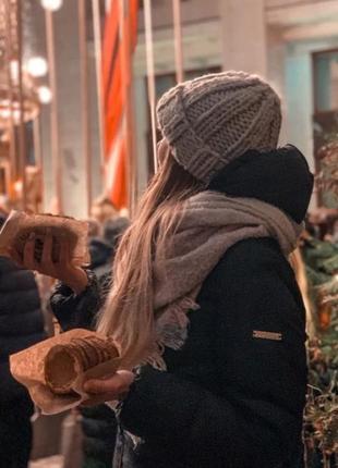 -40% зима 2020! шапка юини крупной вязки шерсть мериноса