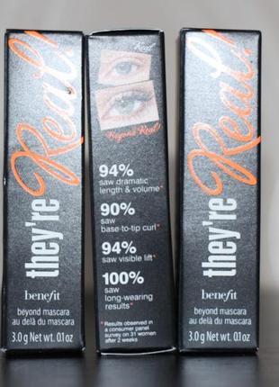 Тушь для ресниц benefit they're real! lengthening mascara black