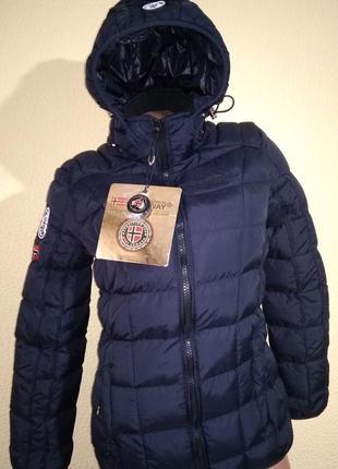 Куртка пуховик зимняя geographical norway benedicte m uk 12 us 10 чёрная