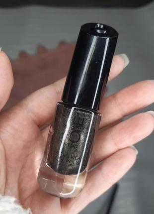 """Красивый стойкий лак для ногтей """"полуночный графит"""" the one"""