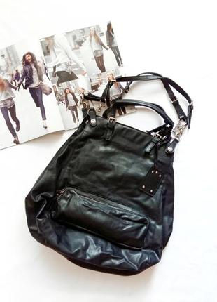 Большая черная сумка-мешок