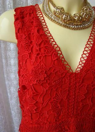 Платье вечернее нарядное коктейльное кружевное батал per una premium р.54 7813