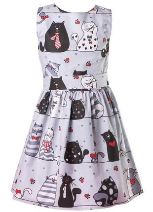 Платье детское хлопковое с модным рисунком.