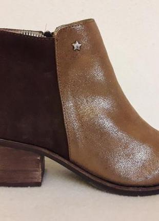 Шикарные кожаные ботинки фирмы cubanas ( португалия)