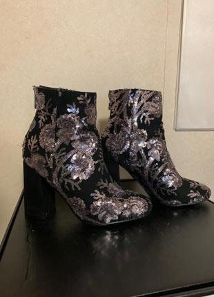 Ботинки с пайетками new look