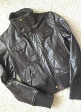 Куртка бомбер кожа