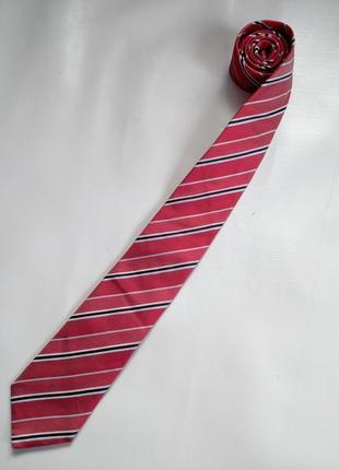 Шелковый галстук navyboot made in italy оригинал италия