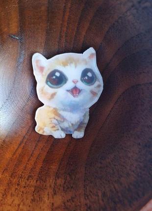 """Пин, pin, значок, брошь, брошка """"котенок глазастик"""", ❤️😸рыжий кот, котик"""