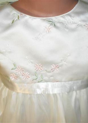 Нежное нарядное платье на 5лет рост 1102 фото