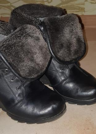 Ботиночки на танкетке натуральная кожа