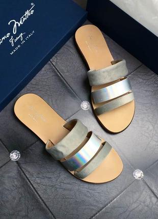Massimo matteo оригинал бархатные сандалии