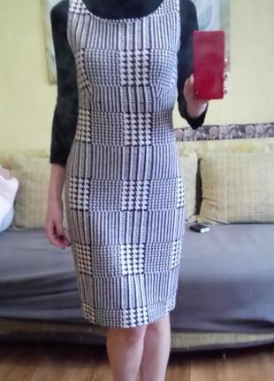Платье теплый сарафан mango zara