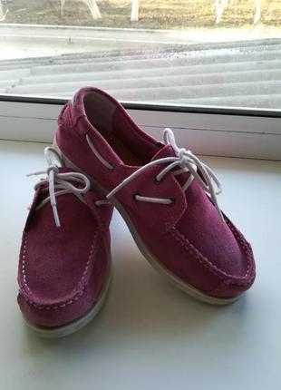 Замшевые туфли мокасины timberland