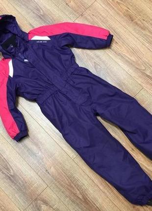 Зимний комбинезон лыжный костюм термо color kids (дания) р.128