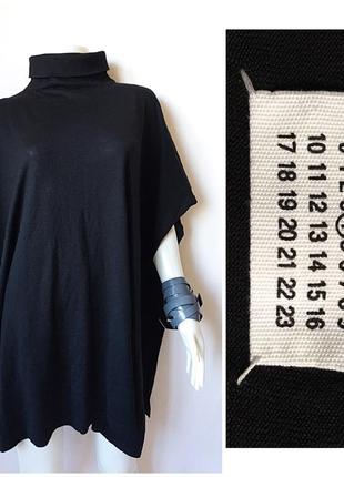 Maison margiela blanket poncho стильное пончо из тонкой шерсти