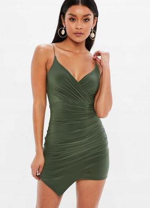 Missguided оливкова хакі міні-сукня на бретелях