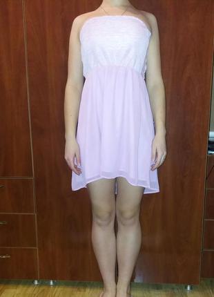 Нежное розовое платье bershka