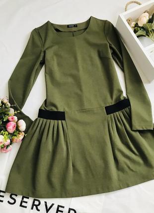 Много вещей по хорошим ценам👆👆👆платье оливкового цвета, красивое платье из плотной ткани