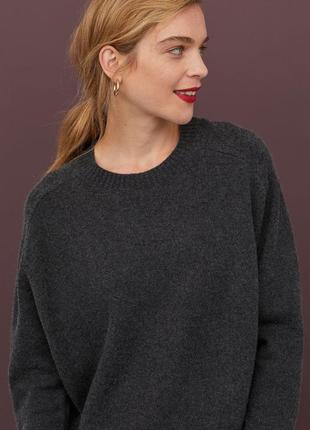Серый кашемировый свитер 100% кашемир джемпер кофта светр с полугорловиной