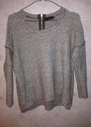 Очень теплый, свободный вязаный свитер andrea
