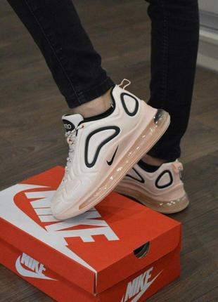 Шикарные женские кроссовки nike air max 720 pink текстиль