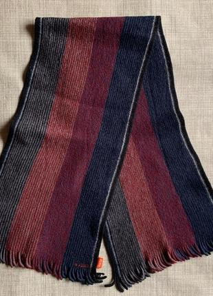 Чоловічий шарф шерсть hugo boss calvin lacoste burberry