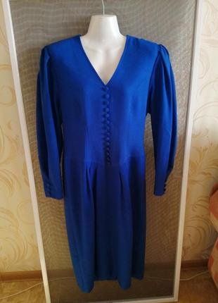 Английское платье синего цвета windsmoor