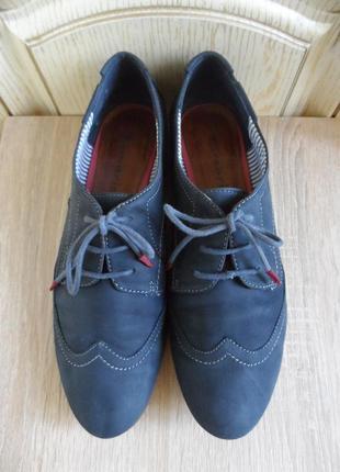 Кожаные туфли оксфорды tamaris, 39р.