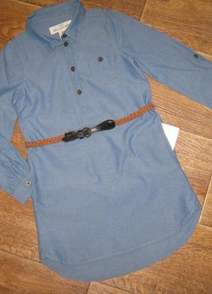 Стильное платье с пояском от h&m, 6-7 лет      168грн